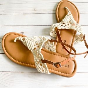 TORRID Macrame t-strap sandal